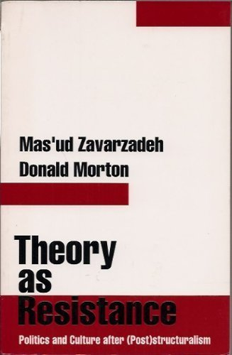 9780898624212: Theory as Resistance: Politics and Culture after (Post)structuralism