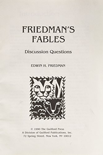 Friedman's Fables: Discussion Questions (0898624568) by Edwin H Friedman