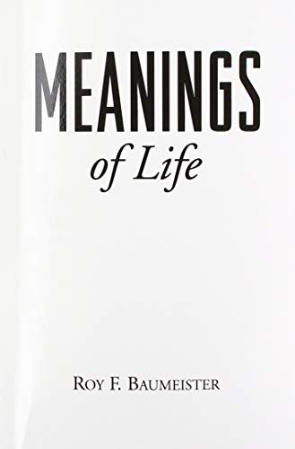 9780898625318: Meanings of Life