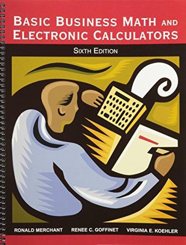 9780898632491: Basic Business Math and Electronic Calculators