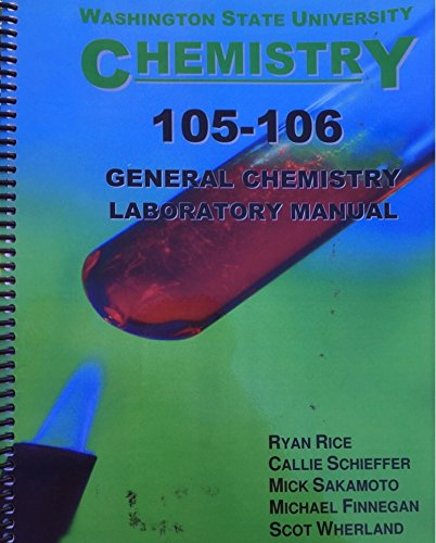 9780898633955: Washington State University Chemistry 105-105 General Chemistry Lab Manual