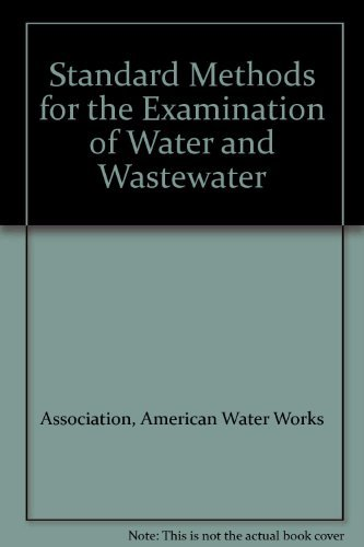 9780898672626: Standard Methods for the Examination of Water and Wastewater