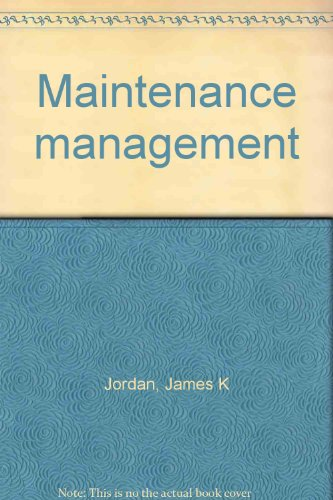 9780898675269: Maintenance management