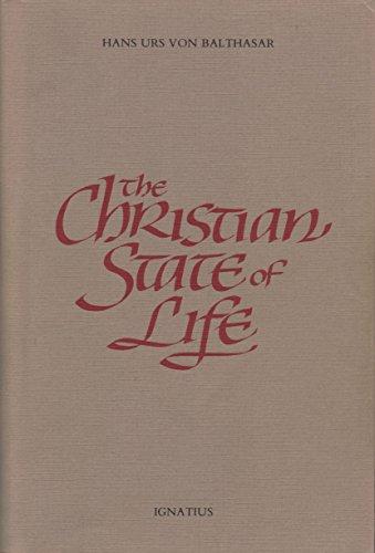 Christian State of Life: Hans Urs von Balthasar