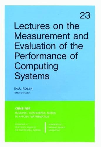 Lectures on the Measurement and Evaluation of: Saul Rosen