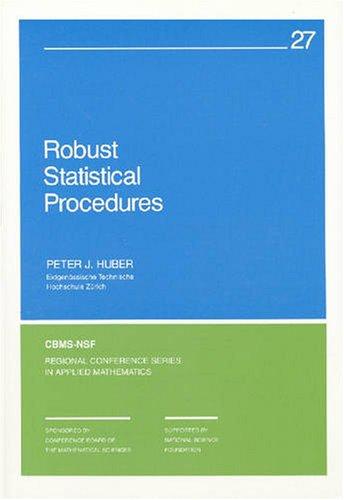 9780898710243: Robust Statistical Procedures