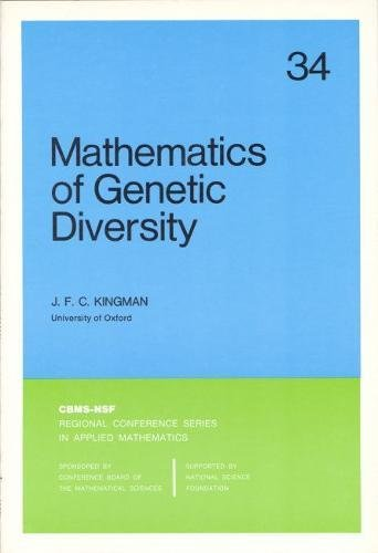 9780898711660: Mathematics of Genetic Diversity (CBMS-NSF Regional Conference Series in Applied Mathematics)