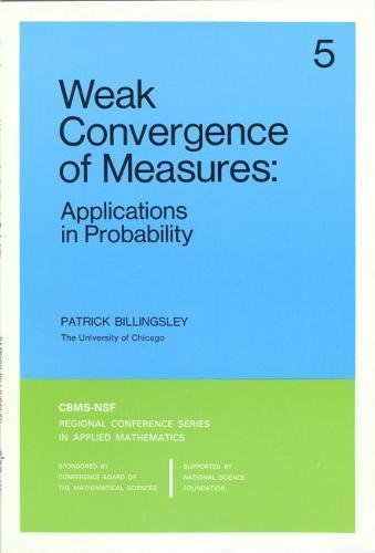 9780898711769: Weak Convergence of Measures: Applications in Probability (CBMS-NSF Regional Conference Series in Applied Mathematics)