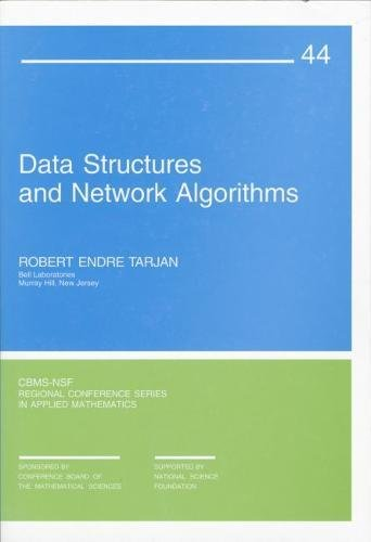 9780898711875: Data Structures and Network Algorithms Paperback (CBMS-NSF Regional Conference Series in Applied Mathematics)