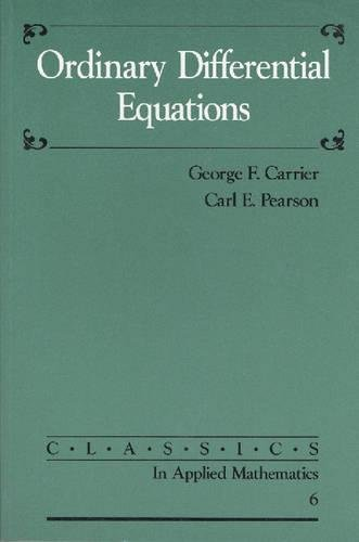 9780898712650: Ordinary Differential Equations (Classics in Applied Mathematics)