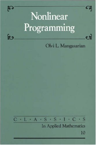 9780898713411: Nonlinear Programming (Classics in Applied Mathematics)
