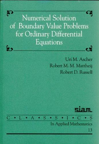9780898713541: Numerical Solution of Boundary Value Problems for Ordinary Differential Equations