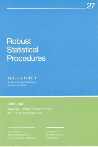 9780898713794: Robust Statistical Procedures (CBMS-NSF Regional Conference Series in Applied Mathematics)