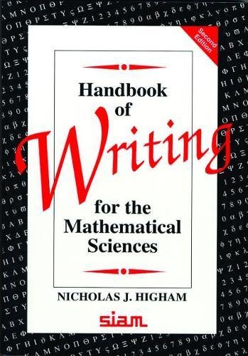 Handbook of Writing for the Mathematical Sciences - Higham, Nicholas J.