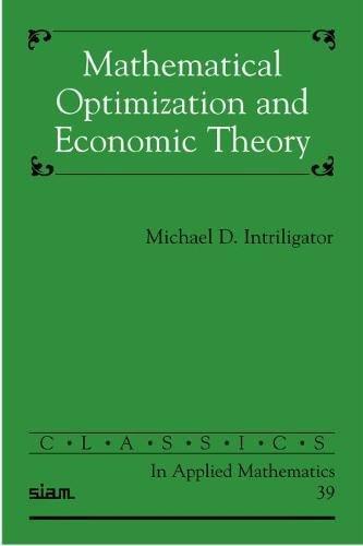 9780898715118: Mathematical Optimization and Economic Theory (Classics in Applied Mathematics)