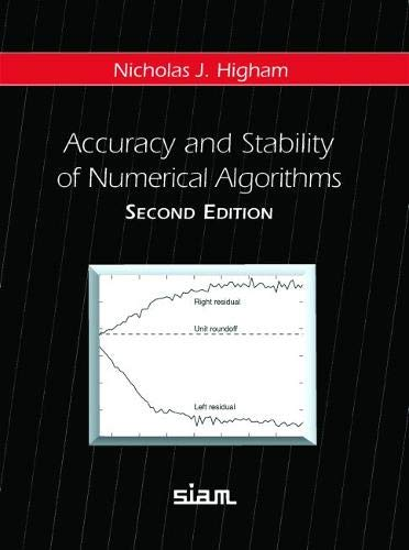 9780898715217: Accuracy and Stability of Numerical Algorithms 2nd Edition Hardback