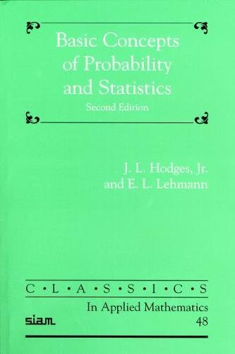 9780898715750: Basic Concepts of Probability and Statistics (Classics in Applied Mathematics)