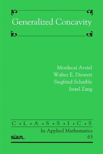 9780898718966: Generalized Concavity (Classics in Applied Mathematics)