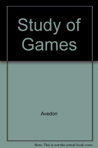 9780898740455: The Study of Games