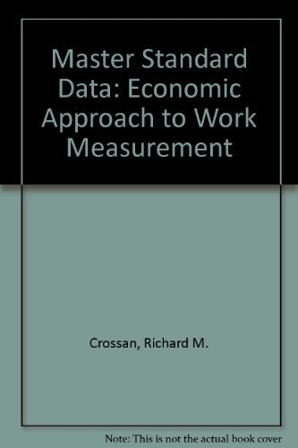 9780898741339: Master Standard Data: The Economic Approach to Work Measurement