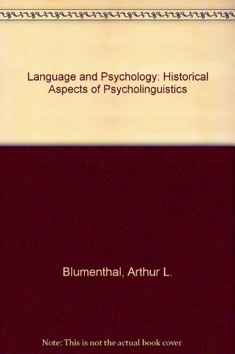 9780898741674: Language and Psychology: Historical Aspects of Psycholinguistics