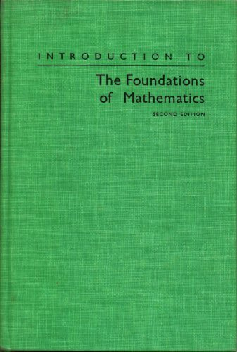 9780898741704: Introduction to the Foundations of Mathematics