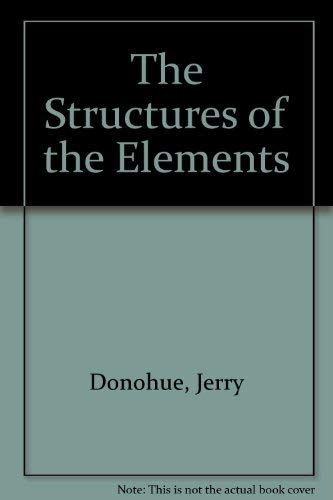 9780898742305: The Structures of the Elements