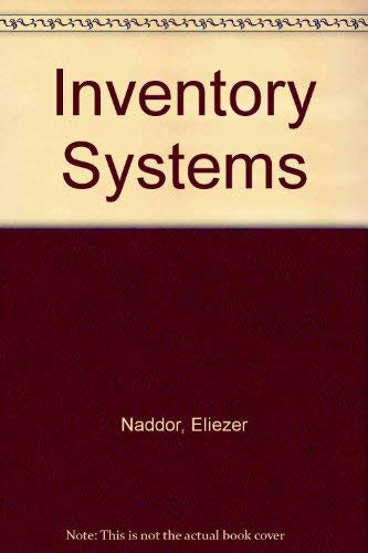 9780898743678: Inventory Systems