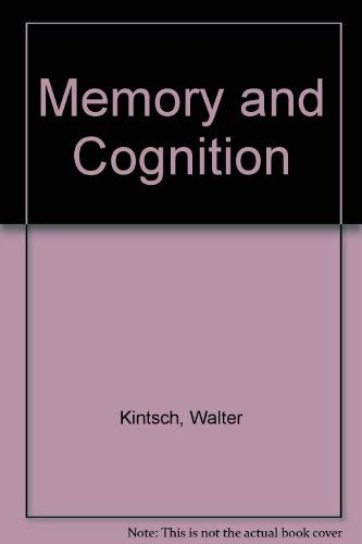9780898744033: Memory and Cognition
