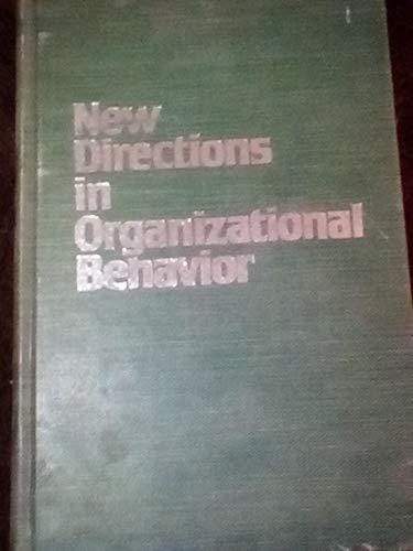9780898745283: New Directions in Organizational Behavior