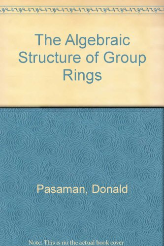 9780898747898: The Algebraic Structure of Group Rings
