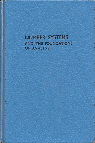9780898748185: Number Systems and the Foundations of Analysis