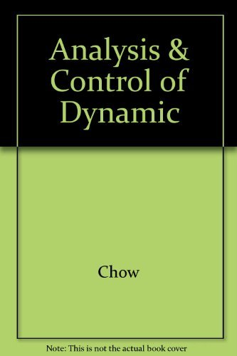 9780898749694: Analysis and Control of Dynamic Economic Systems
