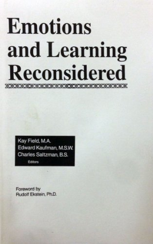 9780898762051: Emotions and Learning Reconsidered: International Perspectives
