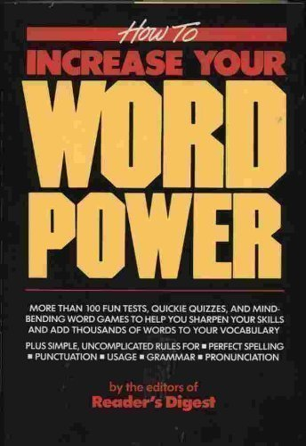 How to Increase Your Word Power: Reader's Digest Editors