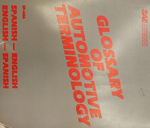 9780898832082: Glossary of Automotive Terminology: Spanish-English English-Spanish
