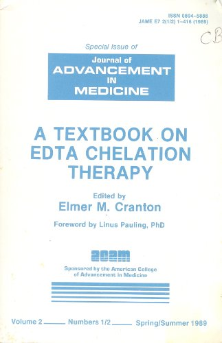 9780898854800: A Textbook on Edta Chelation Therapy, Volume 2 No 1-2: Special Issue of Journal of Advancement in Medicine