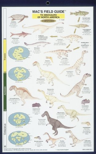 DINOSAURS OF NORTH AMERICA Dinosaurs - North America (Mac's Guides, Laminated Chart)