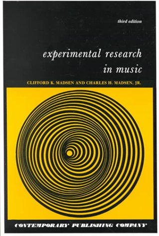 9780898921526: Experimental Research in Music, Text