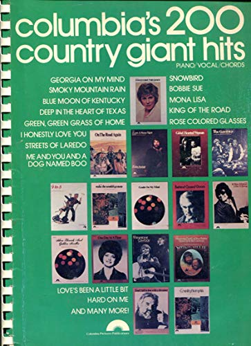 9780898981643: Columbia's 200 Country Giant Hits (Piano/ Vocal/ Chords)