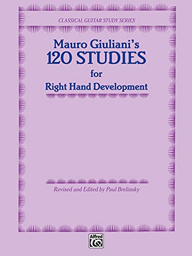 9780898981902: 120 Studies for Right Hand Development (Classical Guitar Study Series)