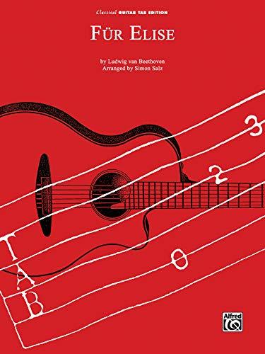 Fur Elise: Classical Guitar Tab, Sheet
