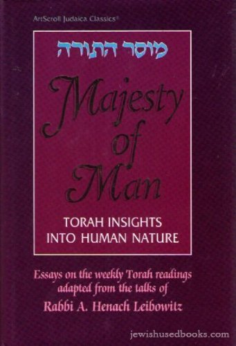 9780899065434: Majesty of Man: Torah Insights Into Human Nature