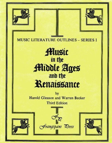 9780899170343: Music in the Middle Ages and the Renaissance (Music Literature Outlines), 3rd Edition