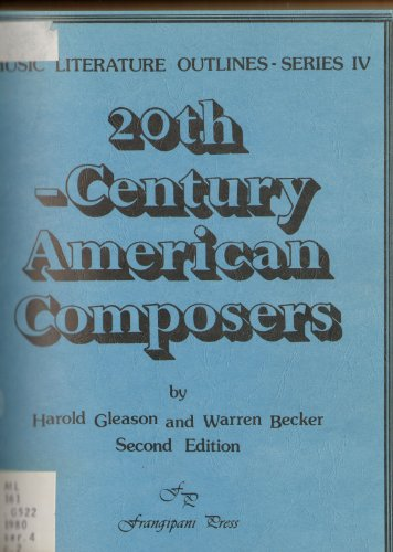 9780899172668: 20th-century American composers (Music literature outlines)