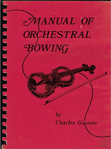 9780899174693: Manual of Orchestral Bowing