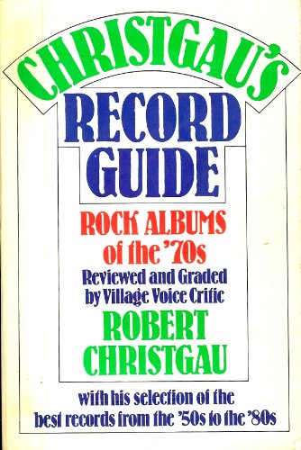 9780899190266: Christgau's Record Guide