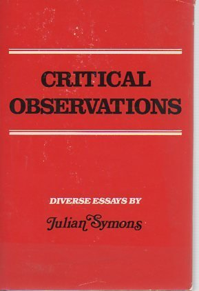 9780899190556: CRITICAL OBSERVATIONS
