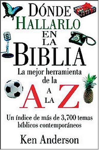 9780899223889: Donde Hallarlo En La Biblia de La A A La Z