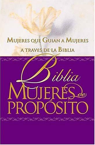 9780899226033: Biblia Mujeres De Propósito_piel Elaborada Púrpura